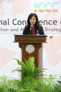 Opening Remarks by Vice Director Graduate School UNS (Prof. Vita Ratri Cahyani)