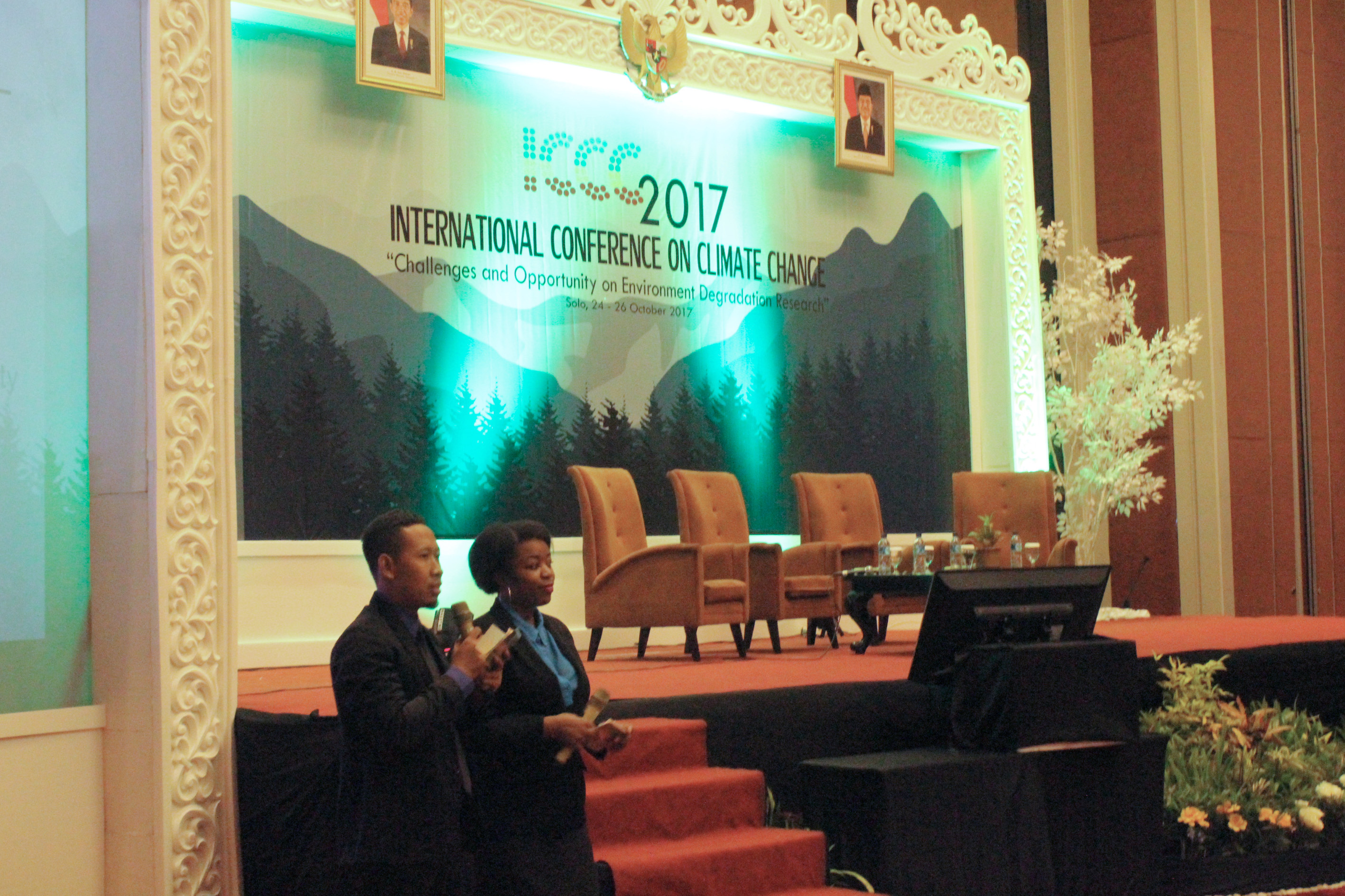 Master Of Ceremony (Ms. Olive Umutesi and Mr. Didik Tri Wahyuni)